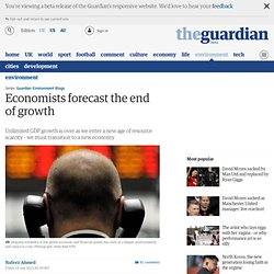 Economists forecast the end of growth