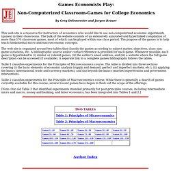 Games Economists Play: Jurgen Brauer and Greg Delemeester