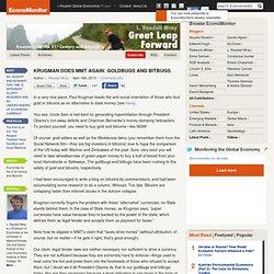 Great Leap Forward » KRUGMAN DOES MMT AGAIN: GOLDBUGS AND BITBUGS