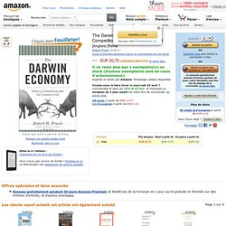 The Darwin Economy: Liberty, Competition, and the Common Good: Amazon.fr: Robert H. Frank: Livres anglais et étrangers