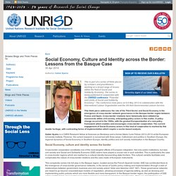 Social Economy, Culture and Identity across the Border: Lessons from the Basque Case