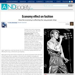 Economy effect on fashion