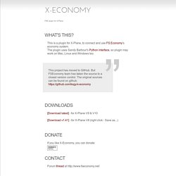X-Economy: X-Plane plugin for FSEconomy