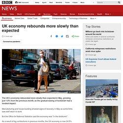 UK economy shrinks by one-fifth under lockdown