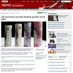 UK economy records fastest growth since 2007