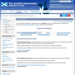 Scot Gov Economy Statistics