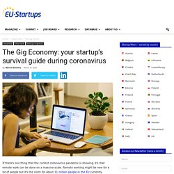 The Gig Economy: your startup's survival guide during coronavirus