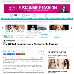 The Global Economy on a Sustainable Thread