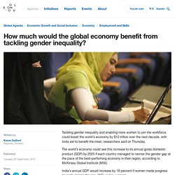 How much would the global economy benefit from tackling gender inequality?