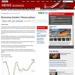 Economy tracker: House prices