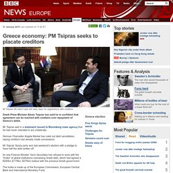 Greece economy: PM Tsipras seeks to placate creditors
