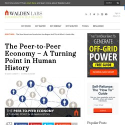 The Peer-to-Peer Economy - A Turning Point in Human History