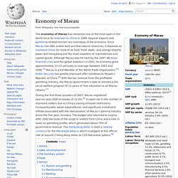 Economy of Macau