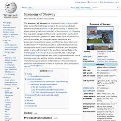 Economy of Norway
