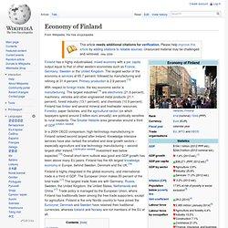 Economy of Finland