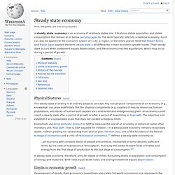 Steady state economy