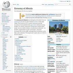 Economy of Albania