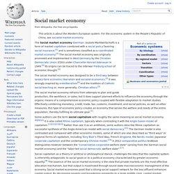 Social market economy