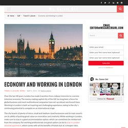 Economy and working in London