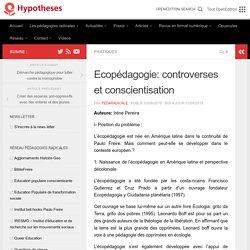 Ecopédagogie: controverses et conscientisation – Les cahiers de pédagogies radicales