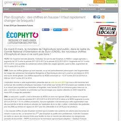 Plan Ecophyto: des chiffres en hausse! Il faut rapidement changer de braquets!