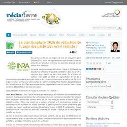 Le plan Ecophyto 2025 de réduction de l'usage des pesticides est-il réaliste ?