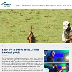 EcoPlanet Bamboo at the Climate Leadership Gala