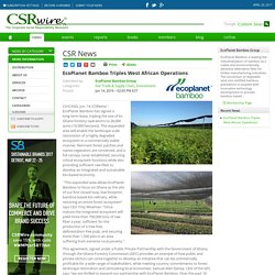 EcoPlanet Bamboo Triples West African Operations