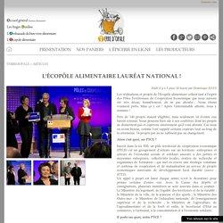 HORIZON ALIMENTAIRE 19/01/16 L'écopôle alimentaire lauréat national !