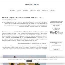 Curso de Ecoprint con Enfoque Holístico -FONDART- The Dyers House