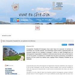 Dijon, l'écoquartier Heudelet 26, une opération de référence - Actualités, Echo des Communes