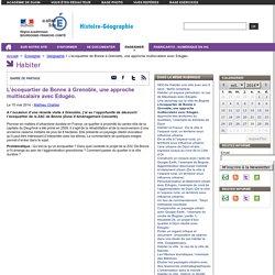 L'écoquartier de Bonne à Grenoble, une approche multiscalaire avec Edugéo.