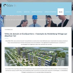 Villes de demain et EcoQuartiers