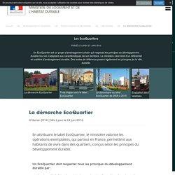 Les EcoQuartiers - Ministère du Logement et de l'Habitat durable