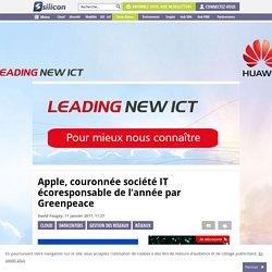 Apple, couronnée société IT écoresponsable de l'année par Greenpeace