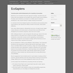EcoSapiens: Smart Solutions for a Living Planet - Biomimicry
