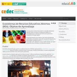 Ecosistemas de Recursos Educativos Abiertos (REA). Objetos de Aprendizaje