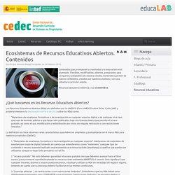Ecosistemas de Recursos Educativos Abiertos. Contenidos
