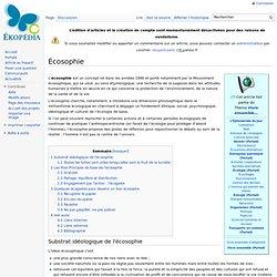 Écosophie