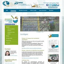 Groupe d'éducation et d'écosurveillance de l'eau - Programmes - J'adopte un cours d'eau - Accueil