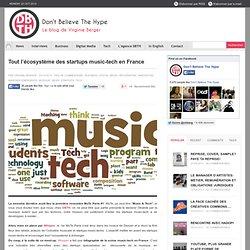 Tout l'écosystème des startups music-tech en France