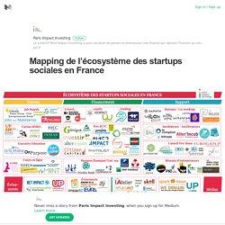 Mapping de l'écosystème des startups sociales en France