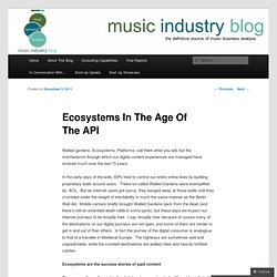 Ecosystems In The Age Of The API
