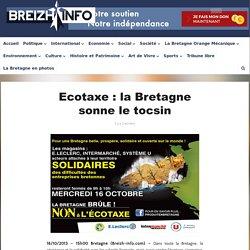 Ecotaxe : la Bretagne sonne le tocsin