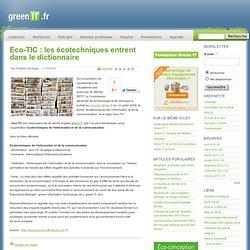 Normes › Eco-TIC : les écotechniques entrent dans le dictionnaire