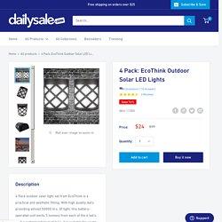 4 Pack: EcoThink Outdoor Solar LED Lights