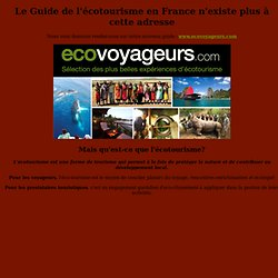Guide de l'écotourisme en France - Green Club France
