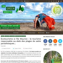 Écotourisme à l'île Maurice : Tourisme responsable