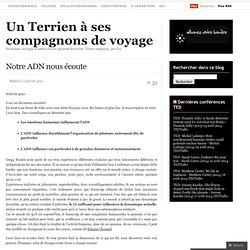 Ecosynthèse: nouvelles d'un Terrien à ses compagnons de voyage