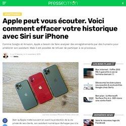 Apple peut vous écouter. Voici comment effacer votre historique avec Siri sur iPhone